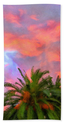 Palm Fire - Beach Towel
