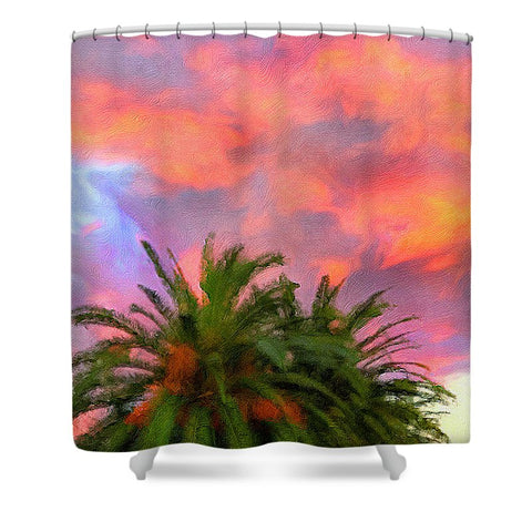 Palm Fire - Shower Curtain
