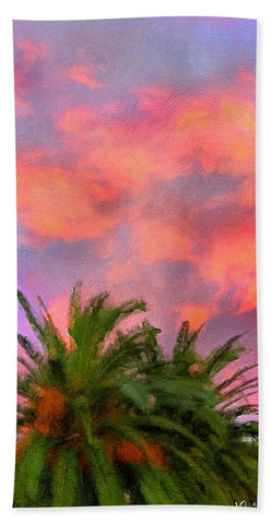 Palm Fire - Bath Towel