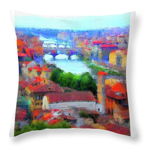 Ponte Vecchio - Throw Pillow
