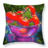 Ripe Tomatoes - Throw Pillow