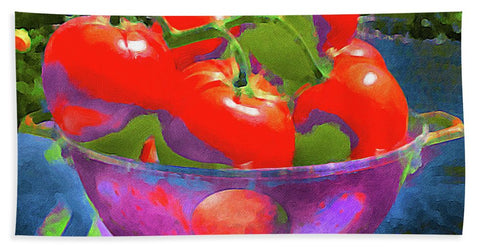 Ripe Tomatoes - Beach Towel