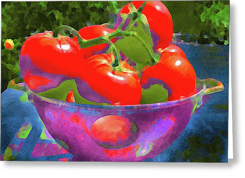 Ripe Tomatoes - Greeting Card