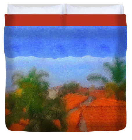 Rooftop Blues - Duvet Cover