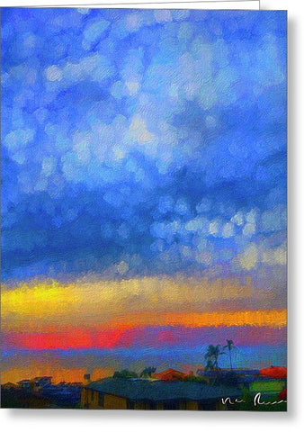 Twilight Blues - Greeting Card