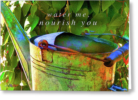 Watering Can - Greeting Card
