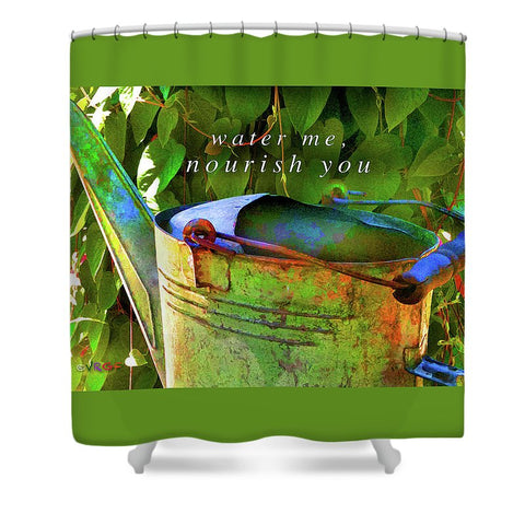 Watering Can - Shower Curtain