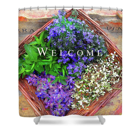 Welcome Basket - Shower Curtain