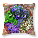Welcome Basket - Throw Pillow