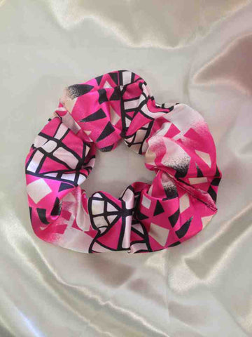 Pink Tribal Print Scrunchie