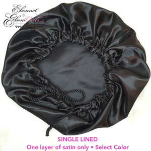 Single Lined Satin Bonnet
