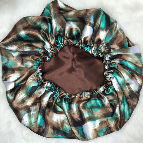 Teal & Chocolate Silhouette ebonnet