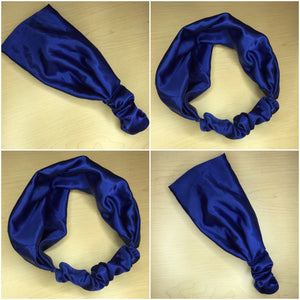 Blue Satin Headband