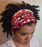 Pink Tribal Print Headband