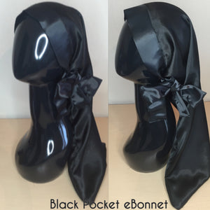 Black Pocket Tie eBonnet