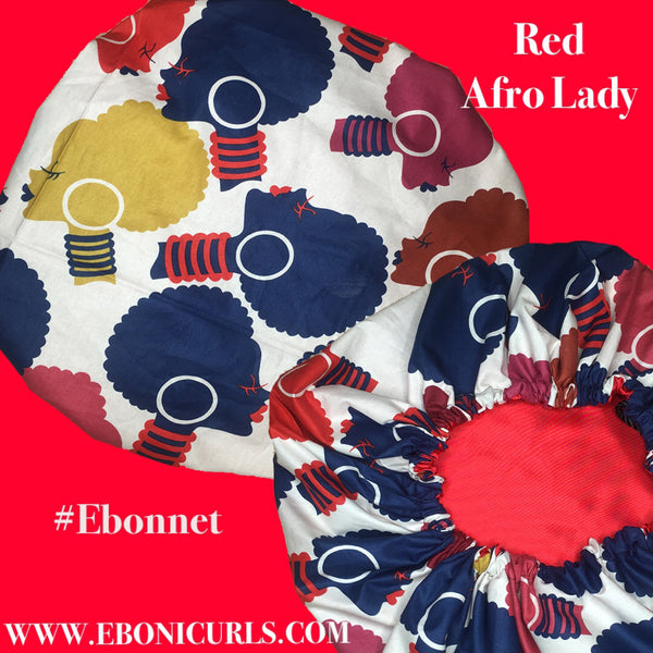 Red Afro Lady ebonnet