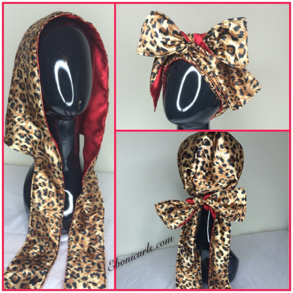 Golden Leopard Hooded Scarf