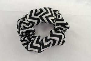 Black Chevron Scrunchie