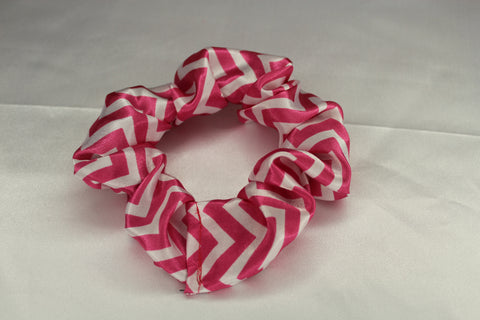 Pink Chevron Scrunchie