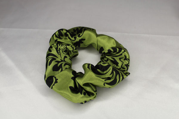 Avacado Damask Scrunchie