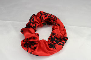 Red Damask Scrunchie