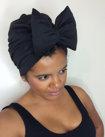 Black Bow Turban