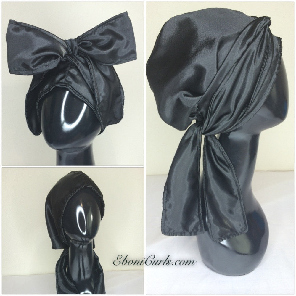 Black Hooded Scarf