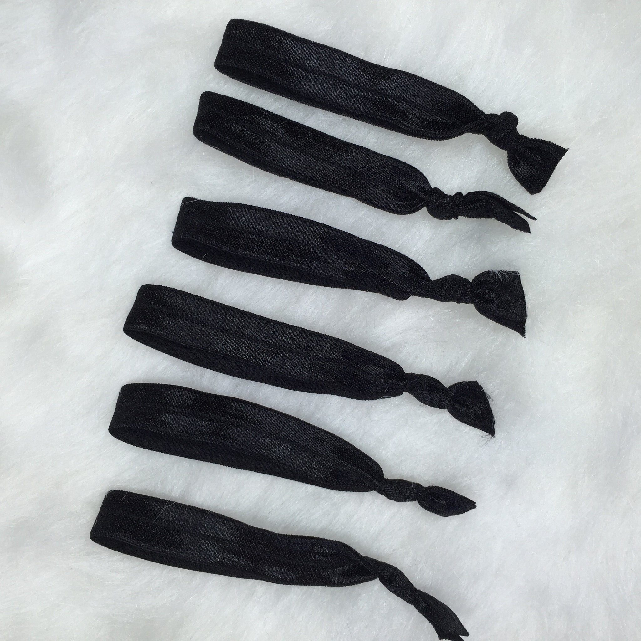 6pk Black Elastic Hair Ties