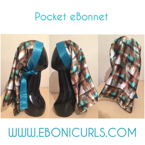 Teal silhouette Pocket Bonnet