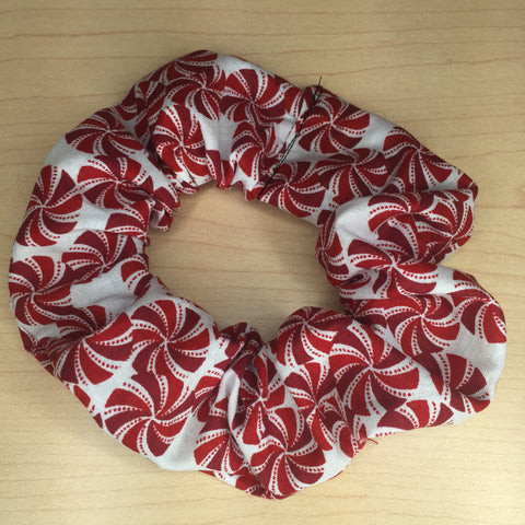 Holiday Peppermint scrunchie