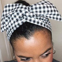 Black & White Picnic Hair Tie