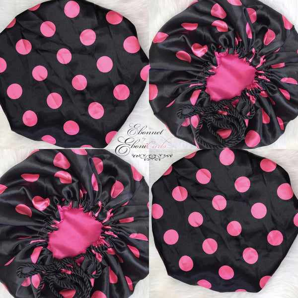 Kids Black & Pink Polka Dot
