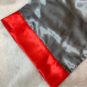 Gray & Red pillowcase