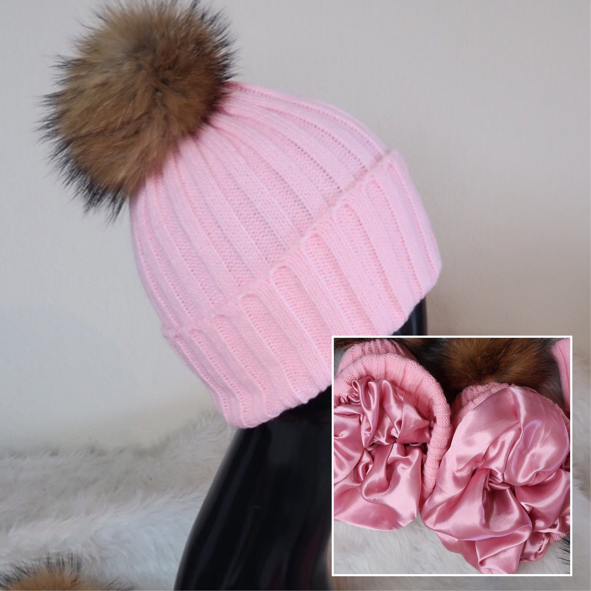 Bubble Gum Pink Winter Hat