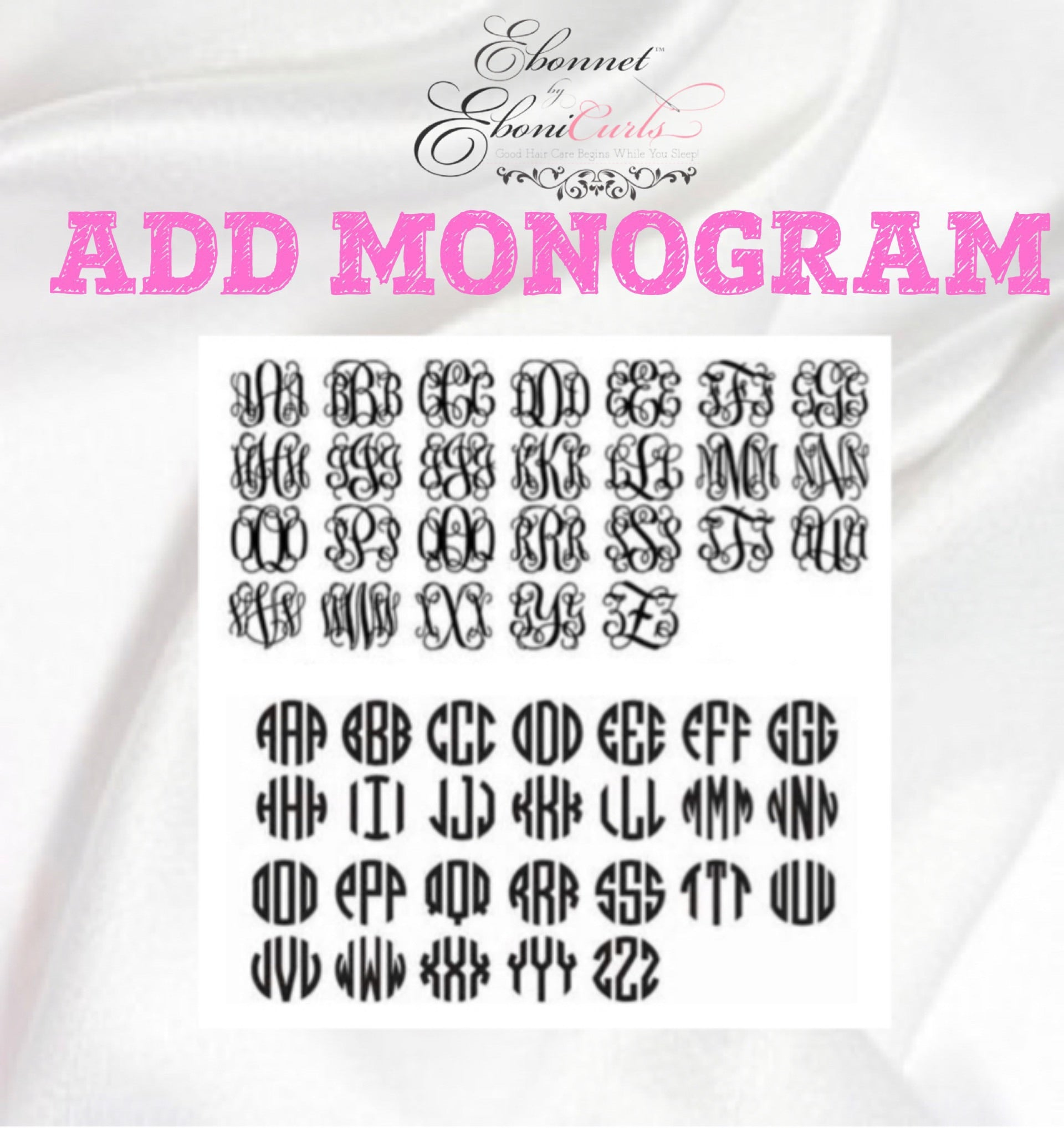 MONOGRAM/ INITIALS ADD