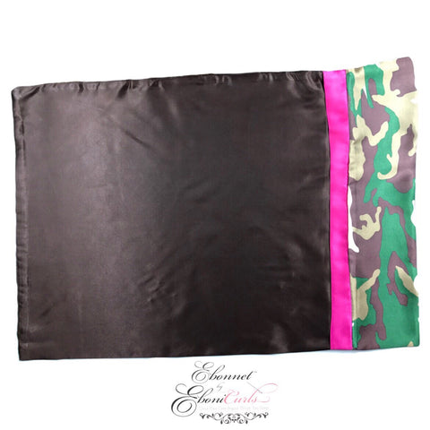 Camo Pink Stripe Pillowcase