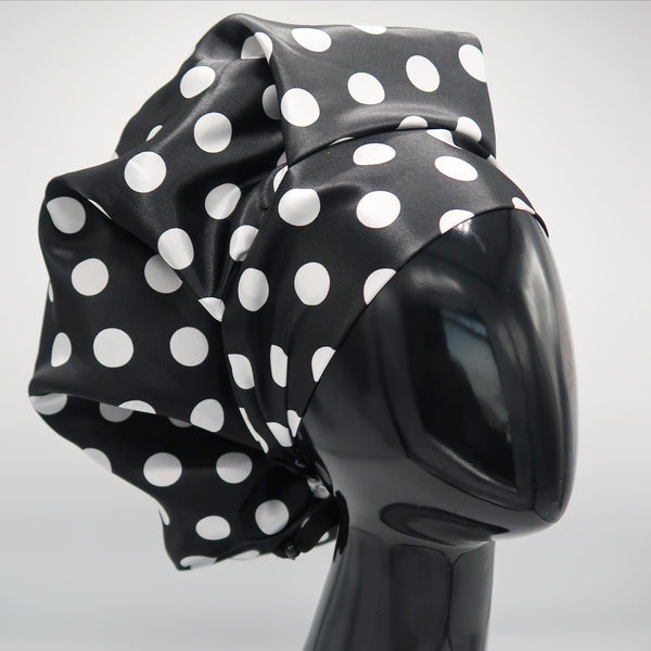 Black & White Polka Dot Bouffant