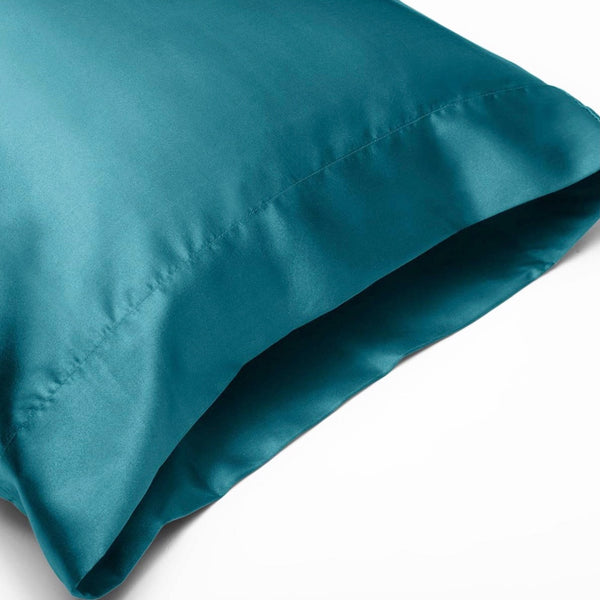 Teal Satin Pillowcase