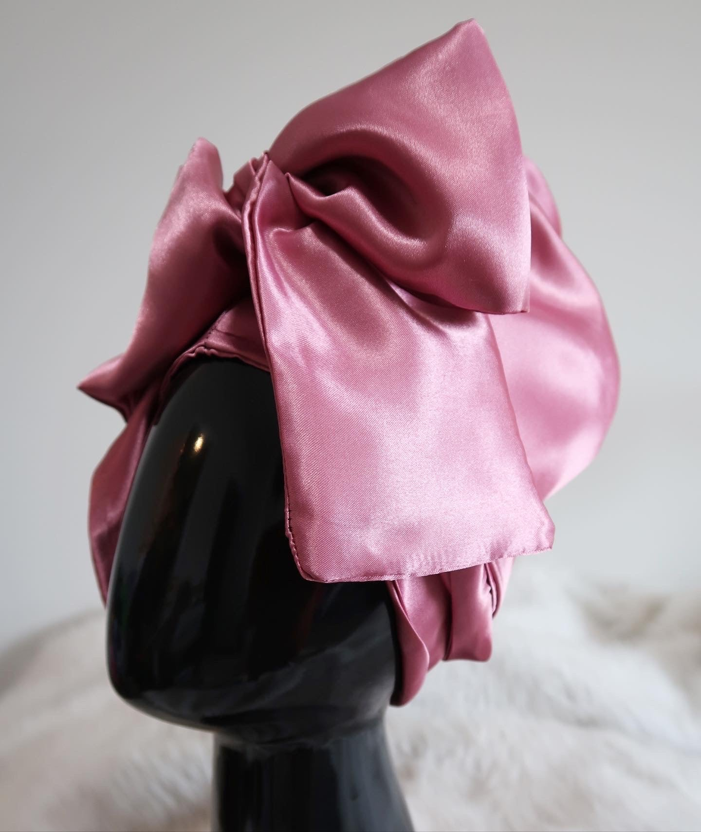 Mauve Hooded Scarf