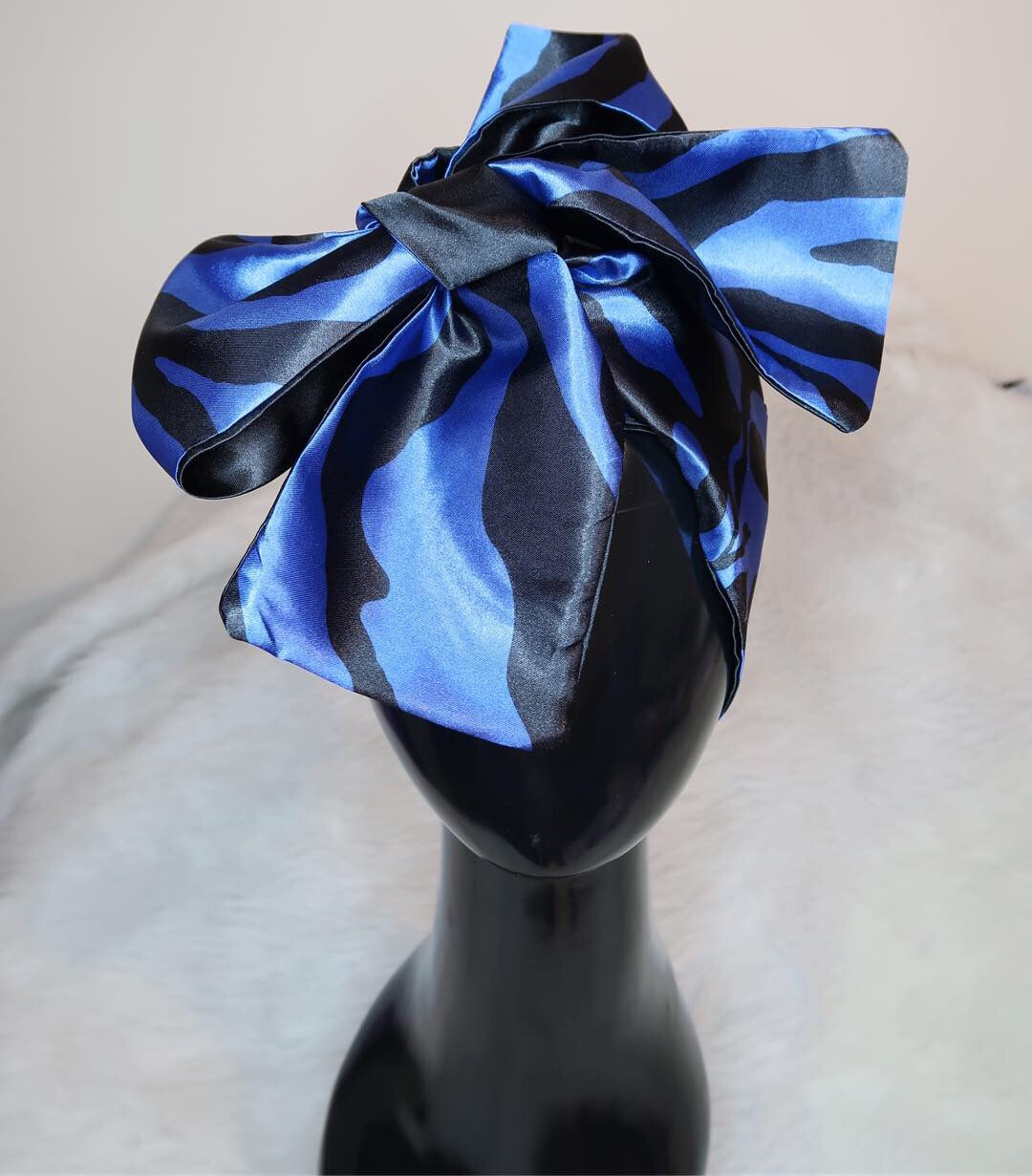 Blueberry Zebra Hooded Scarf