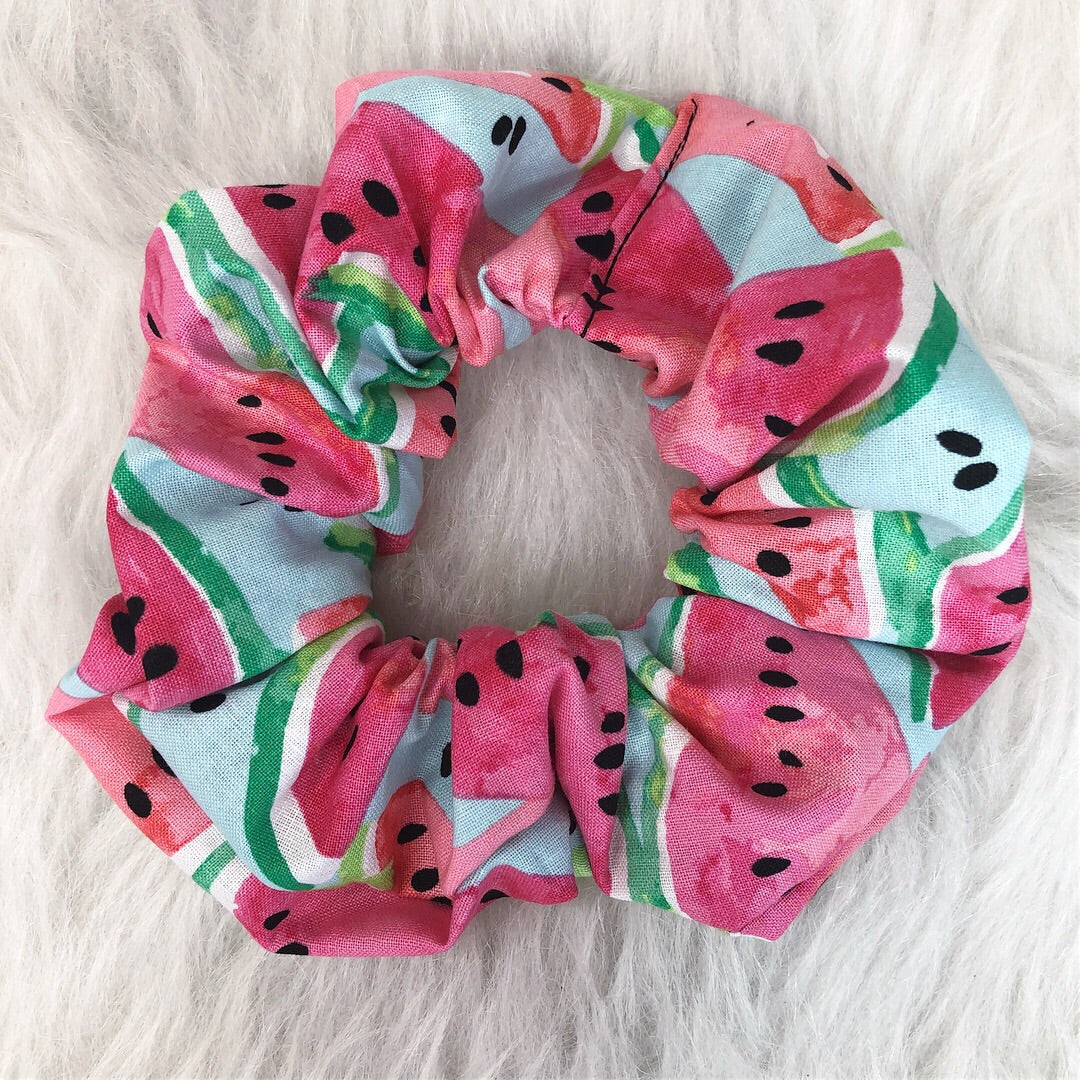 Watermelon scrunchie