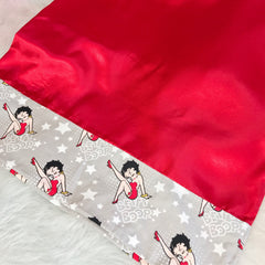 Betty Boop Red Dress Satin Pillowcase
