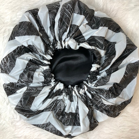 Black Chevron Shower Cap