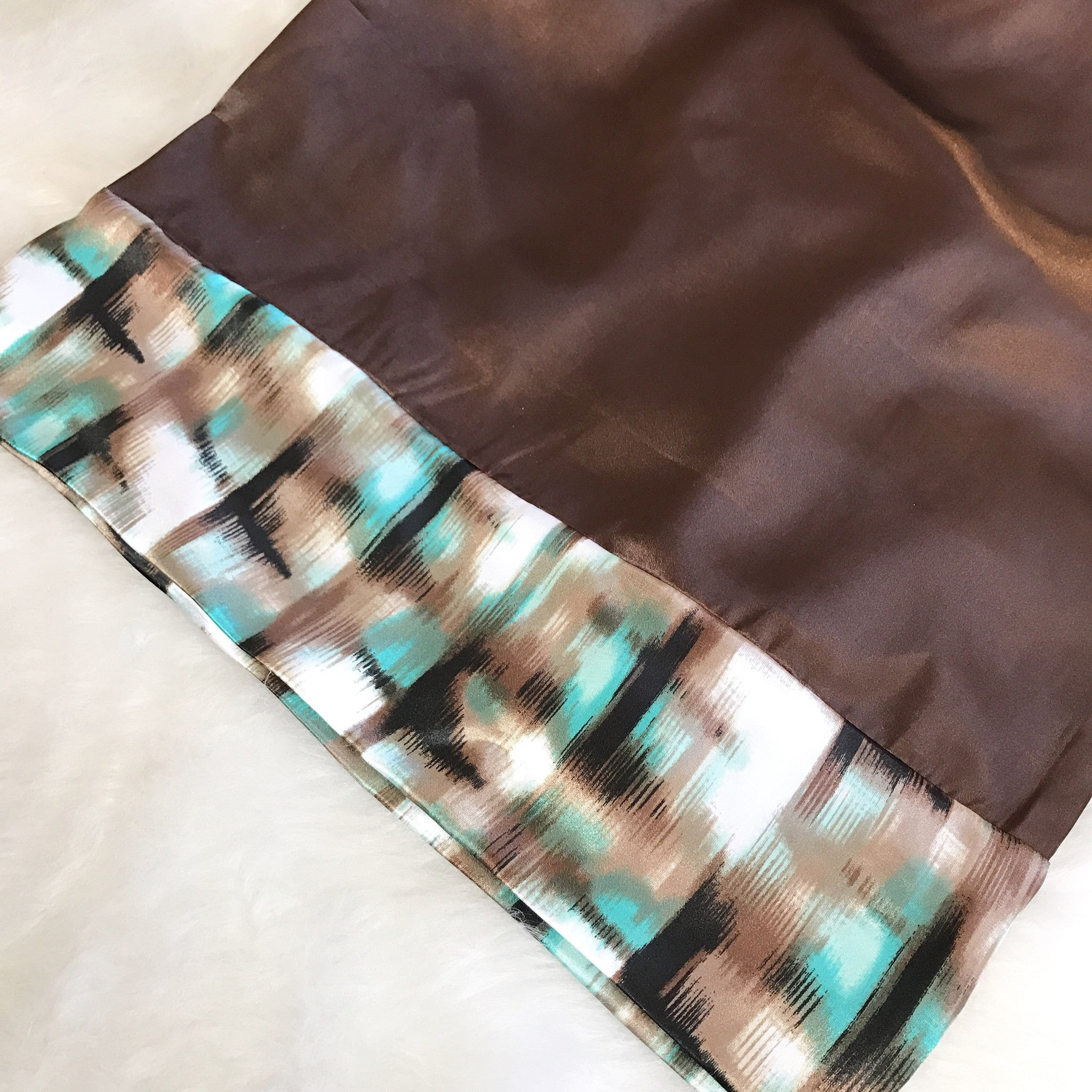 Teal & Chocolate Silhouette pillowcase