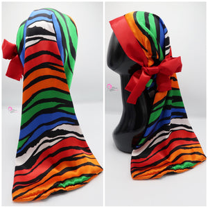 Colorful Zebra Pocket Tie