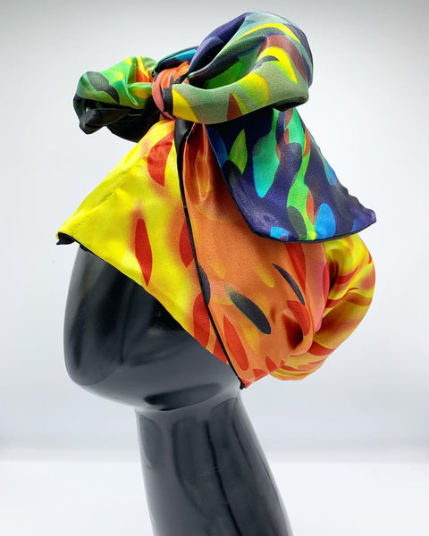 Hooded Scarf Multi Color