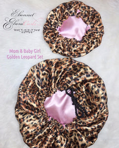 Mom & Baby Golden Leopard Set