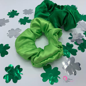 Lime Green & Emerald Scrunchie Set