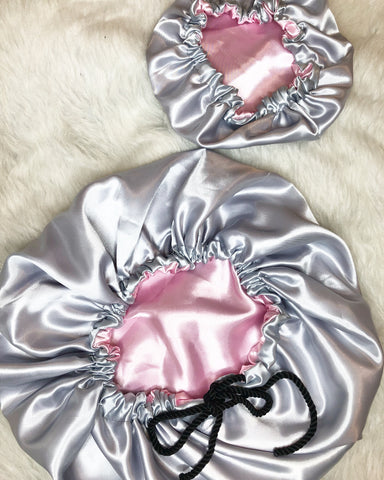 Silver & Soft Pink Mother Daughter Set