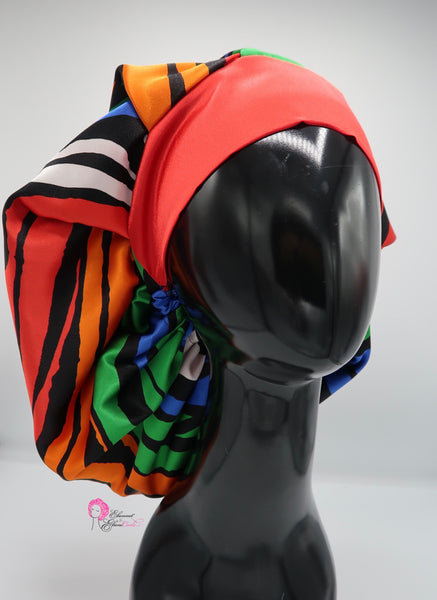 Colorful Zebra Bouffant